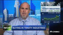 Heavy options activity in Trinity Industries