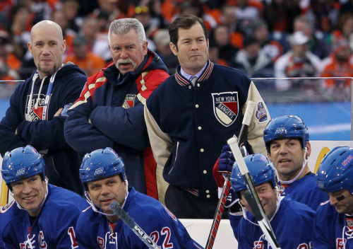 Mike Richter Of The New York Rangers Looks Getty Images
