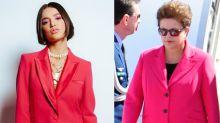 Manu usa terninho pink no 'BBB 20' e é comparada com Dilma