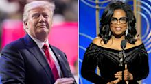 'I'll beat Oprah': Donald Trump says 2020 presidential race against Winfrey would be 'a lot of fun'