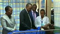 Kenyan president visits wounded in al Shabaab attack
