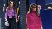 Kate Middleton wears Melania Trump's infamous Gucci p***y-bow blouse
