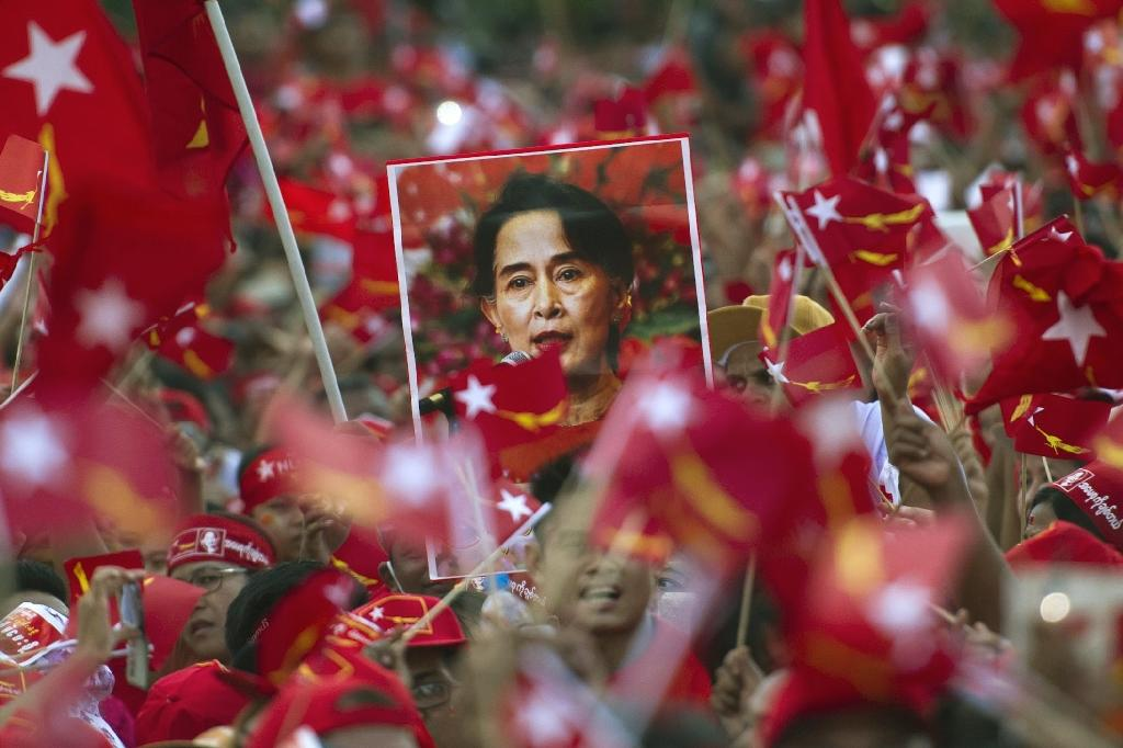 Power beckons for Aung San Suu Kyi's pro-democracy movement as it continues to grab parliamentary seats previously held by the ruling party in army-dominated Myanmar