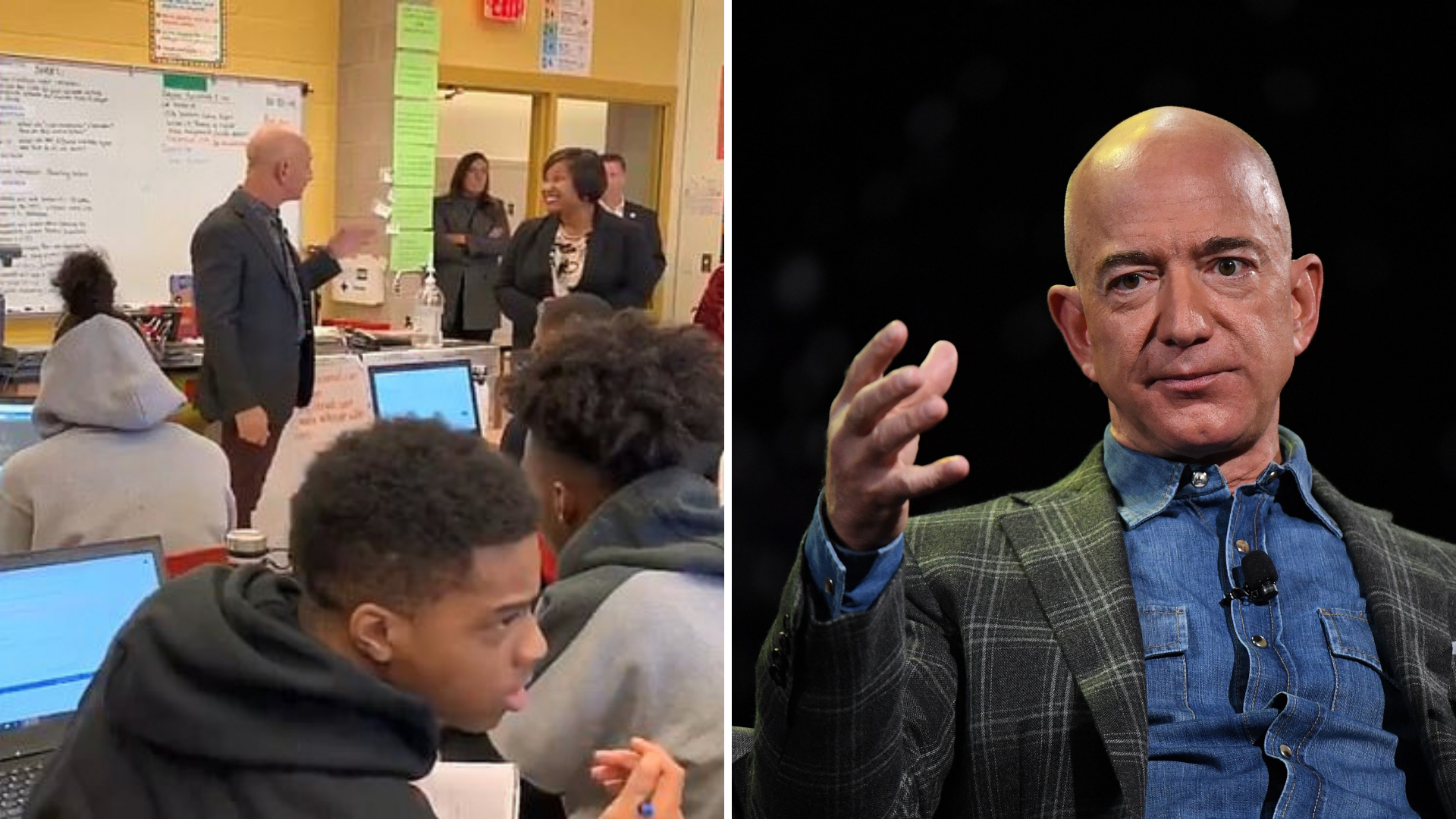 'Who is Jeff Bezos?': Kids confused as Amazon boss walks into computer class
