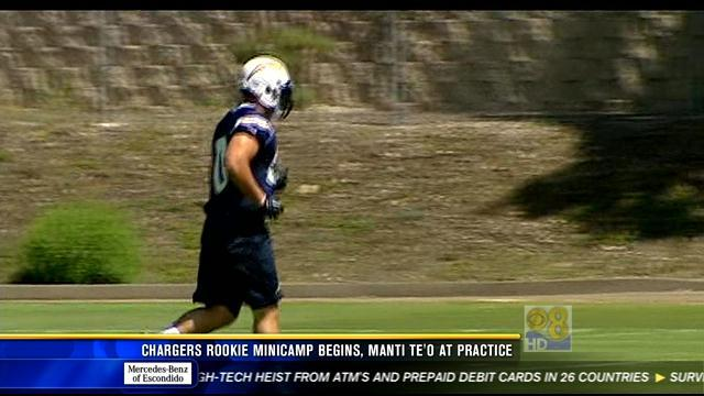 Chargers rookie minicamp opens, Manti Te'o at practice