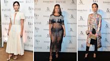 Ashley Graham rocks see-through dress at Harper's Bazaar Women of the Year Awards