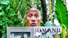 Dwayne Johnson reacts to The Rock and a rock diagram