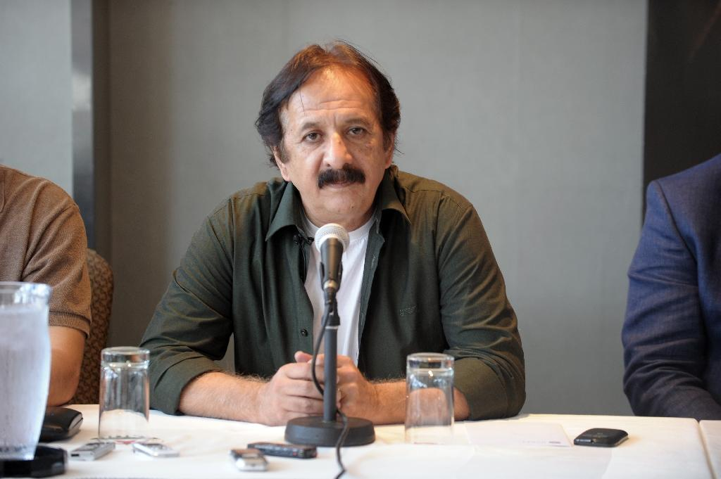 Iranian director Majid Majidi holds a press conference in Montreal on August 27, 2015