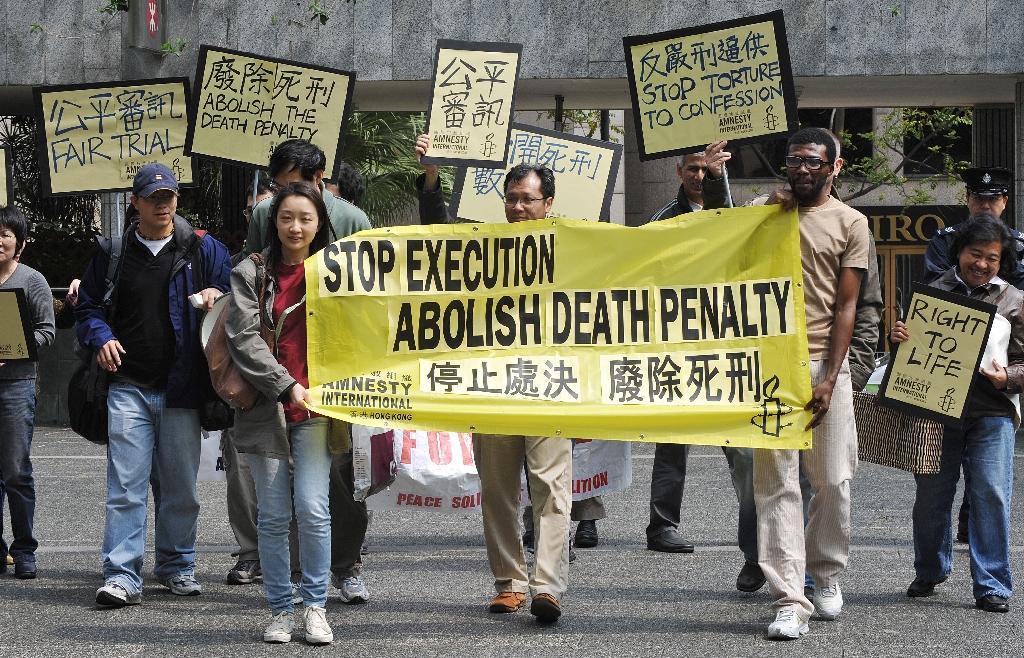 Rights groups say China executes more people than any other country, but Beijing does not give figures on the death penalty