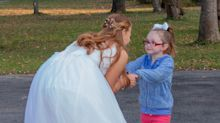 Little girl mistakes bride for Cinderella, and the internet wants to send her to Disney World