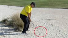 'Busted': Golfing world fumes after player caught 'cheating' on TV