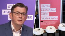 Premier's surprise response to cafe owner's $1 'Daniel Andrews tax'
