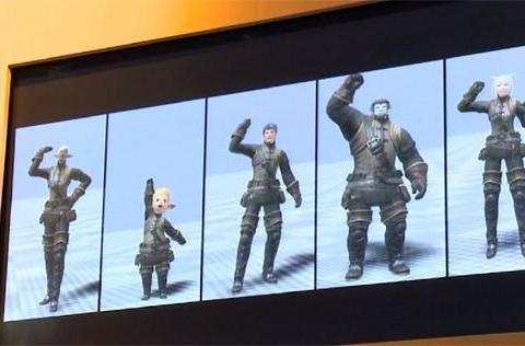 Final Fantasy XIV gameplay and emote footage