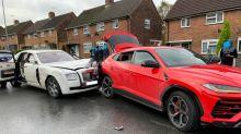 Driver of £250,000 Rolls Royce flees after crashing into £160,000 Lamborghini