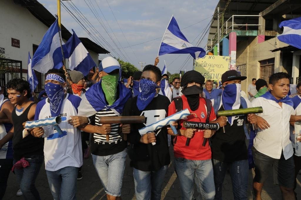 At least 45 people have been killed during protests against Nicaraguan President Daniel Ortega, according to a rights group