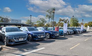 Audi e-tron首批車主聚會!台南樹谷科技園區全新充電據點落成