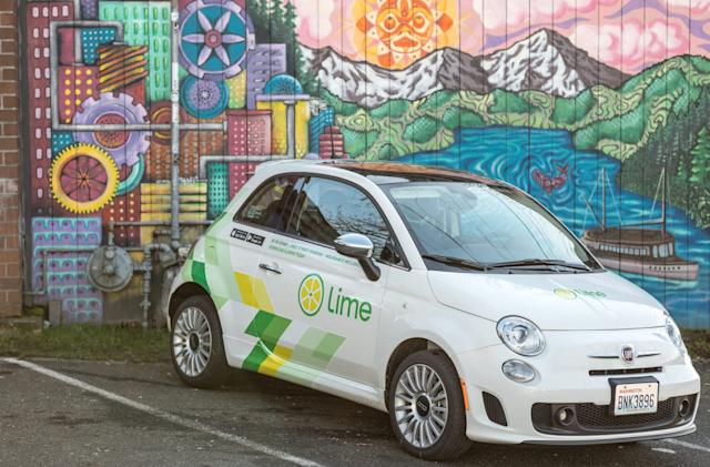 Lime will shut down its car-sharing service in December