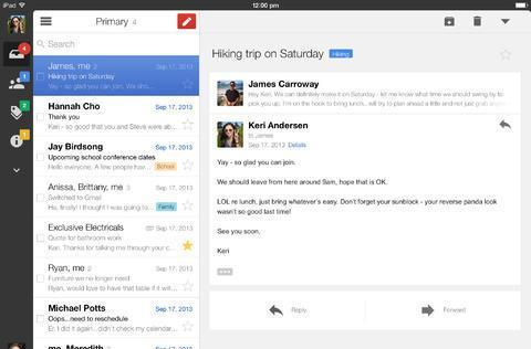Gmail for iOS now fetches mail in the background, simplifies log-in