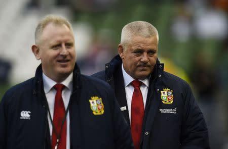 British & Irish Lions head coach Warren Gatland before the match