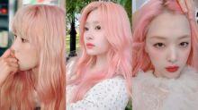 櫻花粉頭髮再度回歸 不止雪莉、太妍和IZ*ONE的金玟周都染了!整個變得超有仙氣!