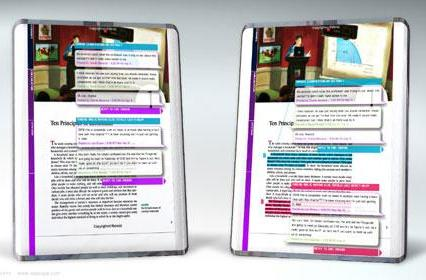 Papyrus e-book concept takes aim at students