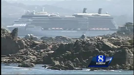 Big cruise ship in Monterey Bay