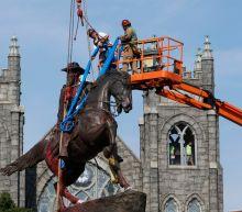 Another Confederate statue in Richmond, Va., comes down along Monument Avenue