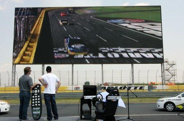 Charlotte Motor Speedway, Panasonic flip the switch on the world's largest HD screen (video)
