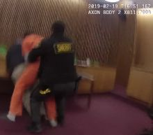 Courtroom video shows man punch own attorney after sentencing