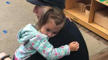 Firefighter comforts preschooler with autism in sweet photo: 'It warmed my heart'