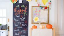 This $13 chalkboard wall sticker is perfect for kids and adults alike