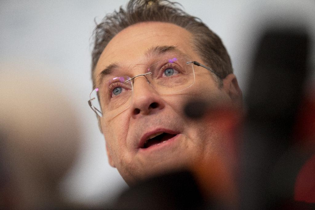 Austria's Vice-Chancellor and chairman of the Freedom Party FPOe Heinz-Christian Strache said he was considering legal action (AFP Photo/ALEX HALADA)