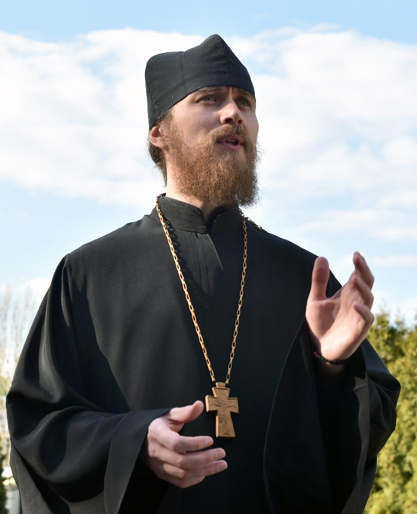 Father Feodosiy of the dominant Ukrainian Orthodox Church says the procedure is 'morally unacceptable' (AFP Photo/Genya SAVILOV)