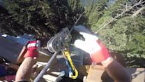 Epic POV footage of record-long zipline ride