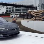 Watch Elon Musk Send a Tesla Model S Underground