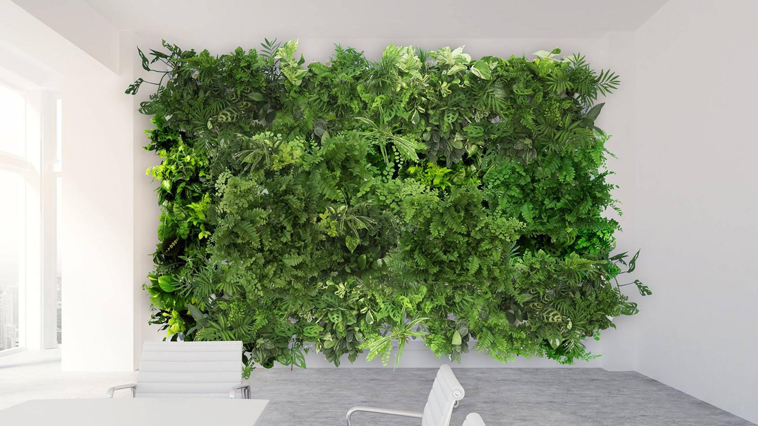 You won t even need to get a friend to water your plants for Vertical green wall