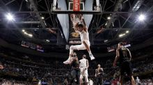 Kelly Oubre reached down to untie Rodney Hood's shoe in the middle of Wizards-Cavs