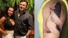 Marido de Gretchen tatua imagem da cantora no braço