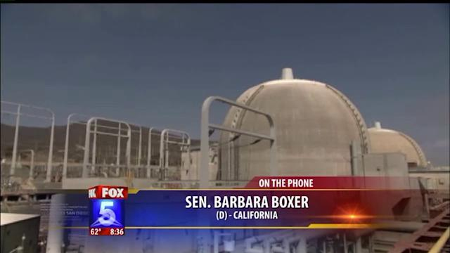 Senator Barbara Boxer talks about the closure of San Onofre
