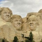 Donald Trump jokes about being added to Mount Rushmore - the internet answers