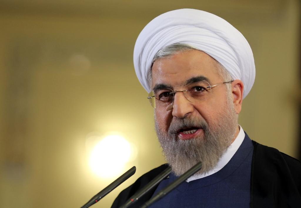 """Iranian President Hassan Rouhani says the country is about to enter """"a year of economic prosperity"""" (AFP Photo/Atta Kenare)"""