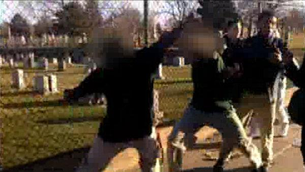 Philadelphia students caught fighting on video