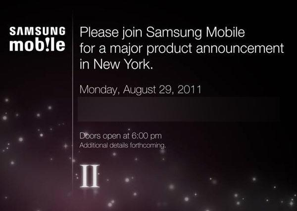 Samsung plans August 29th mobile launch... Galaxy S II finally landing in US?