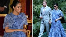 Meghan Markle wears $2,990 blue Carolina Herrera gown for final Morocco appearance