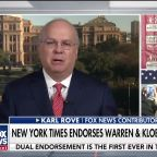 Karl Rove on New York Times' decision to endorse two candidates for Democratic presidential nomination