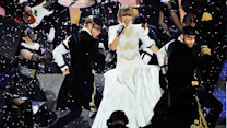 Taylor Swift's Wears Wedding Dress To 2013 Brit Awards