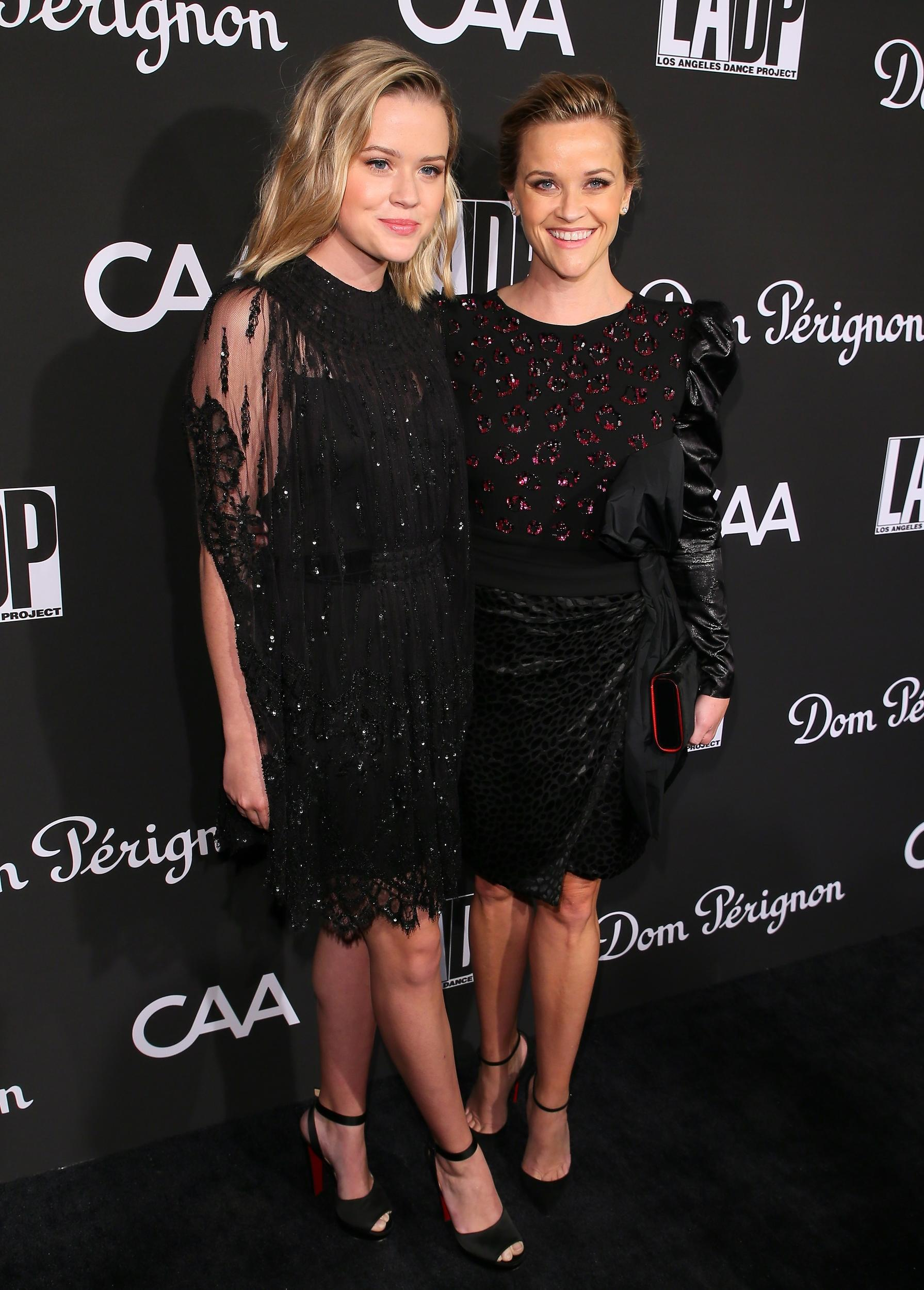 LOS ANGELES, CA - OCTOBER 20: Ava Elizabeth Phillippe and Reese Witherspoon attend the L.A. Dance Project's Annual Gala on October 20, 2018 in Los Angeles, California. (Photo by JB Lacroix/WireImage)