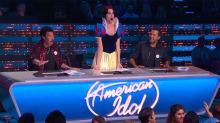 Katy Perry dons Snow White drag for 'American Idol's' magical, madcap Disney Night