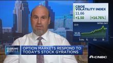 Options markets responds to today's stock gyrations