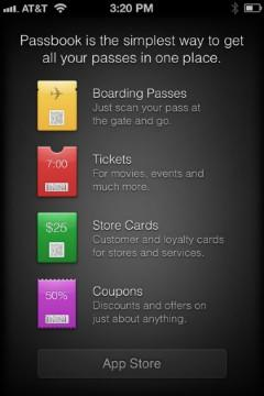 PSA: Passbook supported apps now listed in iOS 6 App Store